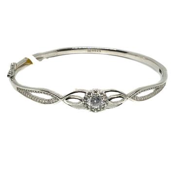 925 Sterling Silver Flower Diamond Bracelet MGA - KRS0399