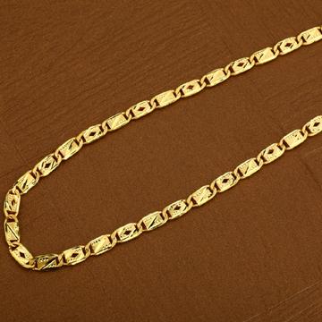 Nawabi 22K Plain Gold Mens Chain-MNC10