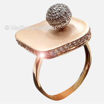 18KT Rose Gold Ladies Beads Ring