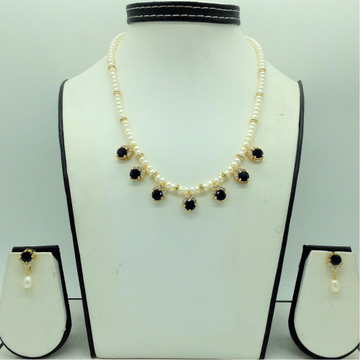 White ,BlueCz7 PcsSet With 1Line FlatPearls Ma...