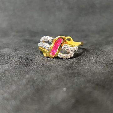 22k Ladies Fancy Choki Stone Ring-17024