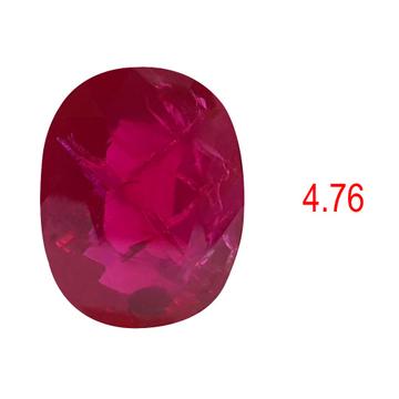 4.76ct oval Shape pink ruby-manek by