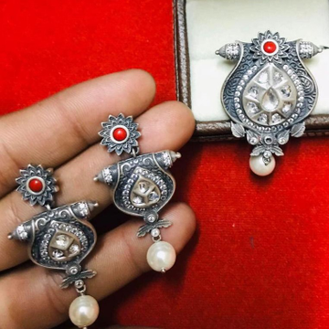 925 Starling Silver Oxodise Chain Pendal Set RH-925CP003
