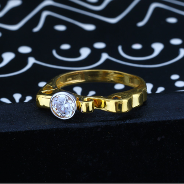 916 Gold CZ Ladies Diamond Ring JJLR-017