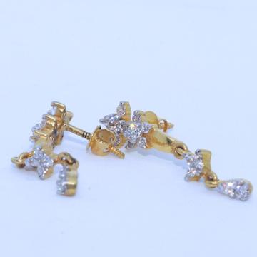 22KT / 916 Gold White  Diamond Earring for Ladies BTG0042