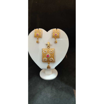 916 Ladies Fancy Gold Pendant Set P-41807