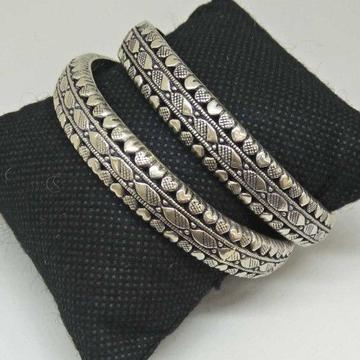 925 Sterling Silver Oxides Designed Bangle
