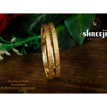 916 Gold Daily Wear Kadli Bangle