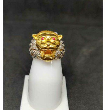 22k Gents Fancy Lion Ring R-28551