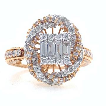 18kt / 750 rose gold designer pendant cum ring for...