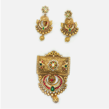 916 Gold Antique Jadtar Pendant Set RHJ-6013