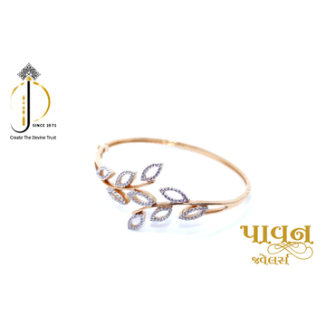 18KT Rose Gold fancy Leaves shape Bangles For Ladi... by