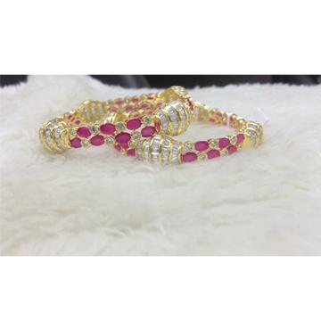 916 gold pink stone bangle rh-b003