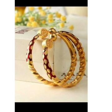 22kt Gold Fancy Ghaba Kadali (Bangle)