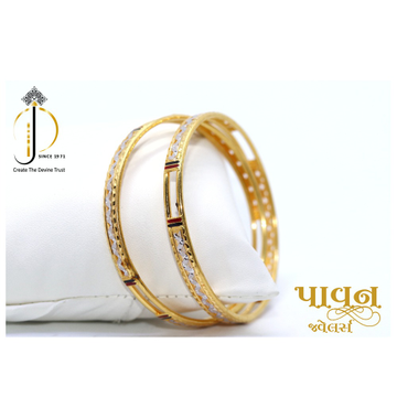 22KT / 916 Gold plain Rhodium Bangles For Ladies K... by