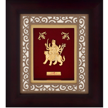 22K Gold Ambe Mata Photo Frame AJ-13
