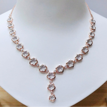 18K Rose Gold Plated Floral Design Necklace MJ-N00... by