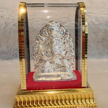 silver ganeshji murti by
