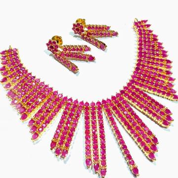 Red cz necklace set jmk0004
