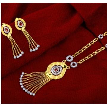 22 carat gold ladies hallmark necklace set RH-NS565