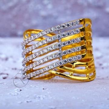 916 Gold Ladies CZ Ring RH-LR002