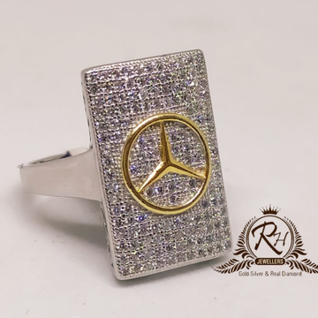 92.5 silver mercedes traditional geants ring Rh-Gr947