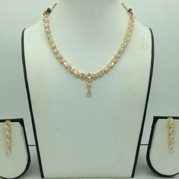 White CZ Stones Necklace Set JNC0164