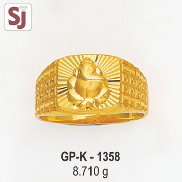 Ganpati Gents Ring Plain GP-K-1358