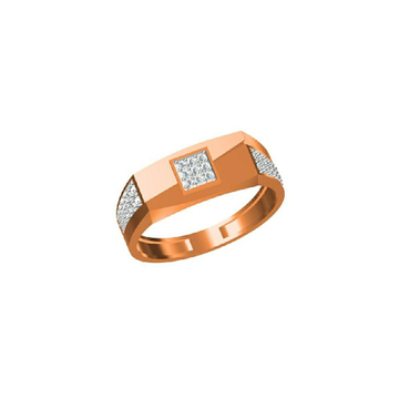 18Kt Exclusive Men's Outwear Rose Gold Fancy Ring-31326