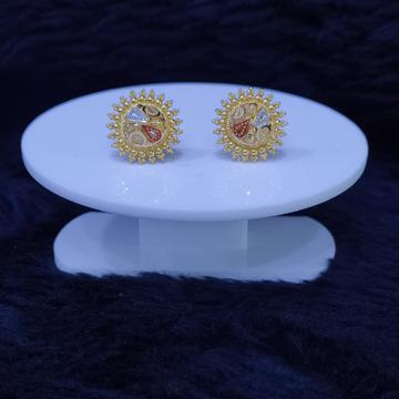 22KT/916 Yellow Gold Aristry Earrings For Women