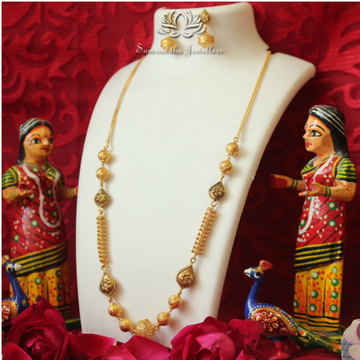 916 Gold Antique Pearl Mala SJ - M001