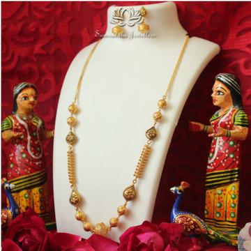 916 Gold Antique Pearl Mala SJ - M001