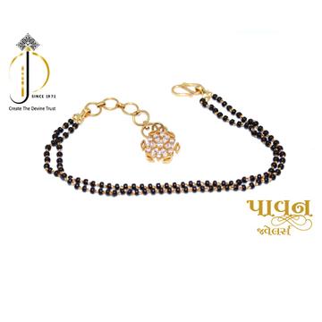18KT Yellow Gold Mangalsutra Fancy Bracelet For La... by
