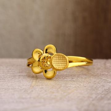 22Kt Gold Stylish Hallmark Women's Plain Ring LPR261