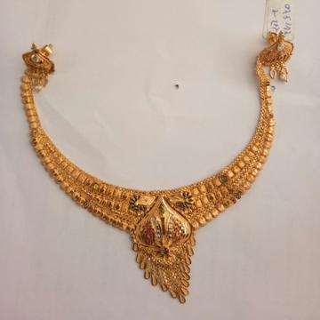 916 Gold hallmark Necklace set HH9766