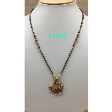 916 Gold Antique Dancing Girl Design Mangalsutra IO-M11