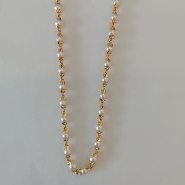 916 gold pearls kanthi mala by Vinayak Gold