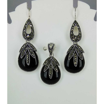 Exclusive marcasite 92.5 silver Pendant Set MG-P008