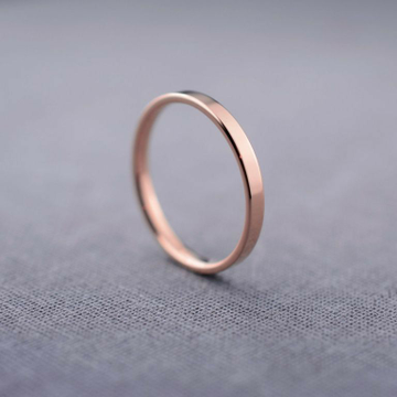 18 KT Rose Gold classic engagement band for unisex... by