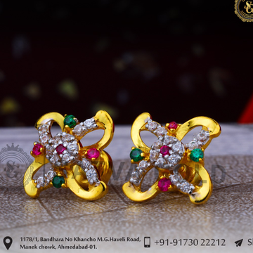 916 gold earrings sge-0047