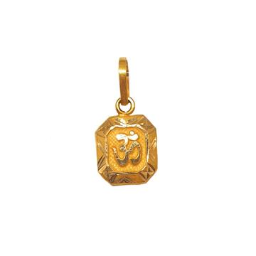 18K Gold Om Pendant MGA - PDG0193