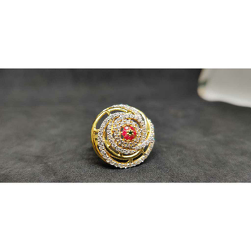 22Kt Designer Fancy Gold Ring Lr - 17082