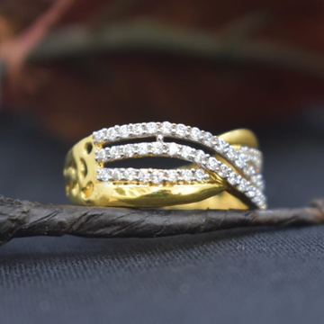 22KT Gold CZ Rings For Women MK-R09 by