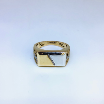 BRANDED FANCY ROSE GOLD RING by