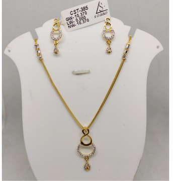 916 cZ gold Necklace set SOG-N92 by S. O. Gold Private Limited