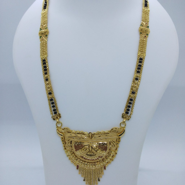 916 GOLD KOLKATI FANCY MANGALSUTRA TJ-035
