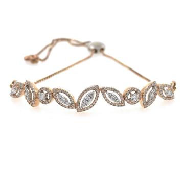 18kt / 750 rose gold chain diamond bracelet 8brc45