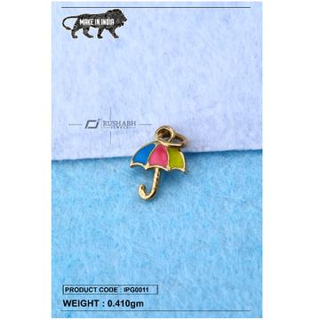 18 carat gold Kids pendent umbrella ipg0011