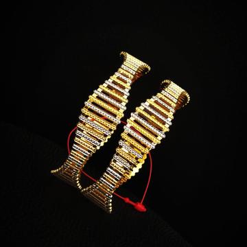 916 hallmark gold rhodium polish bangle by Pratima Jewellers