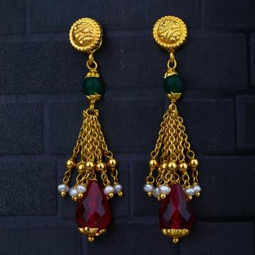 22KT Gold Hallmark Ethnic Design Earring